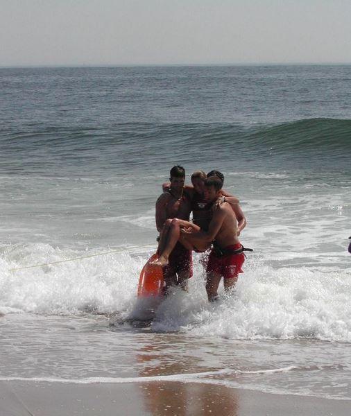 resaca del mar