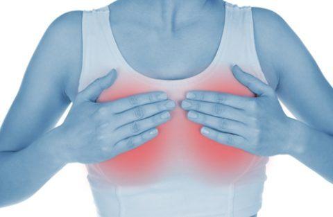 Dolor abdominal y sensibilidad en los senos